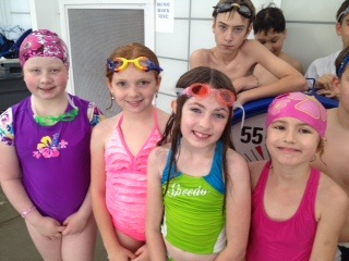 group swimmers