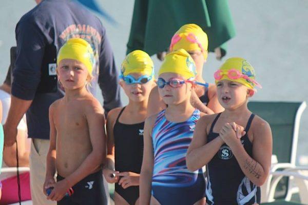 swim meet cheering