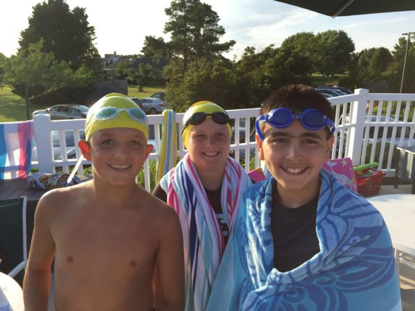 boys at swim meet