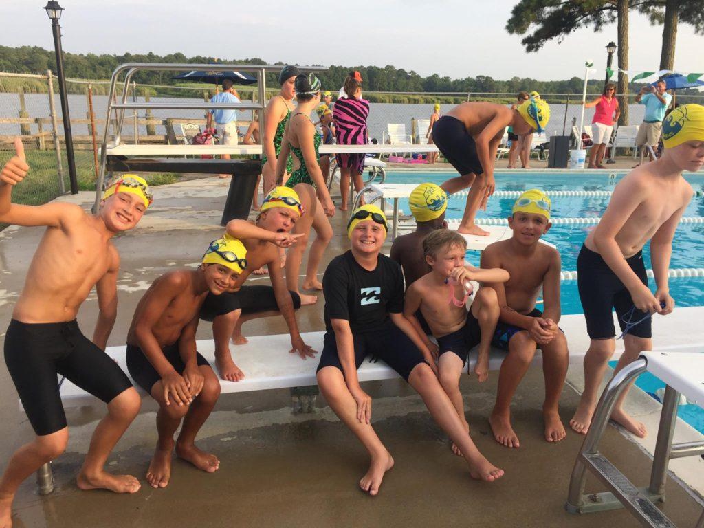 swim meet boys