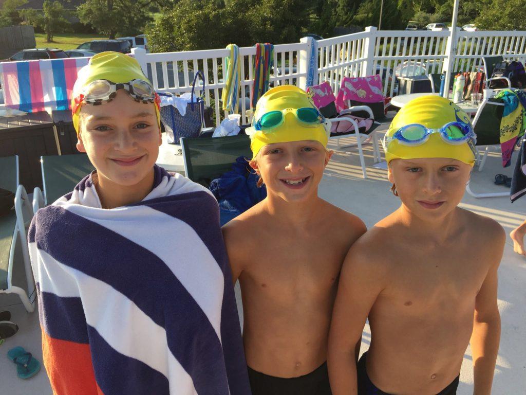 boys at swim meet