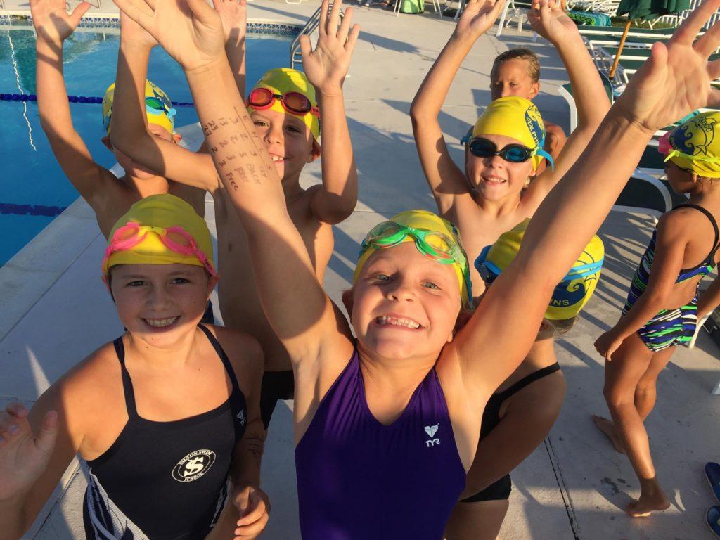 swim team girls